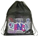Graffiti Drawstring Dance Backpack