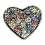Multi Pastel Colored Heart Slide Charm