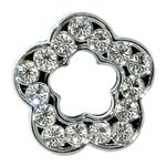 Open Clear Flower Slide Charm