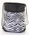 Pizzazz Zebra Print Stringpack Dance Bag