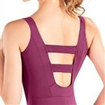 So Danca Tank Adult Leotard with Back Strap Detail