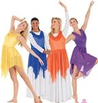 Eurotard Shimmer Draped Tunic Top (Size: Small / Medium, Color: Purple)