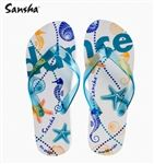 Sansha Sea Design Dance Flip Flops (Size: 5 US / 36 EU)